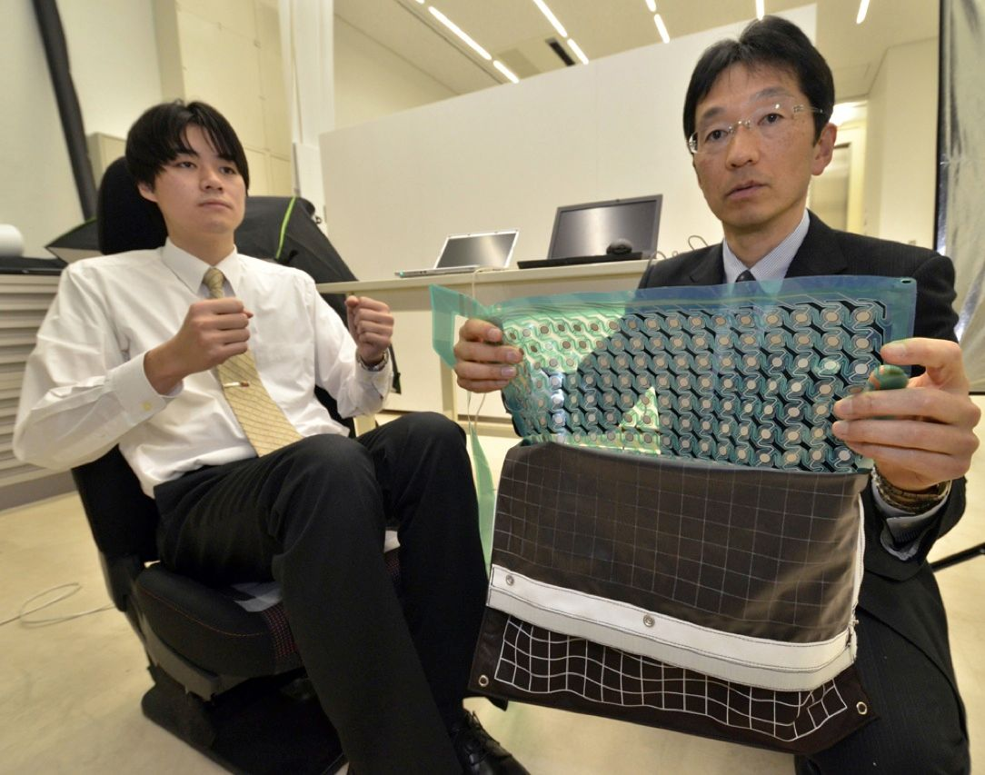 How can electronic devices tell us apart? There's fingerprints, iris scans, and face recognition, to name a few. Now some researchers at the Advanced Institute of Industrial Technology, in Tokyo, say they've developed a flexible sheet of pressure sensors that can accurately identify a person by the imprint of his or her posterior on, say, the driver's seat of a car.