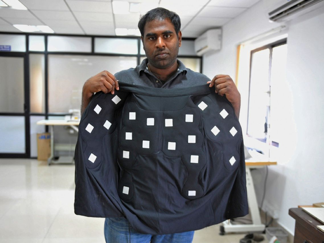 Keep your cool in the summer; stay toasty in the dead of winter. That is the promise of the ClimaWare jacket made by Dhama Innovations in Hyderabad, India. The jacket takes advantage of the Peltier effect, whichcomputer designers exploit to keep laptops cool. The thermoelectric device and plastic Peltier plates, which regulate body temperature with no moving parts, run for 8 hours on a charge of the jacket's rechargeable battery.