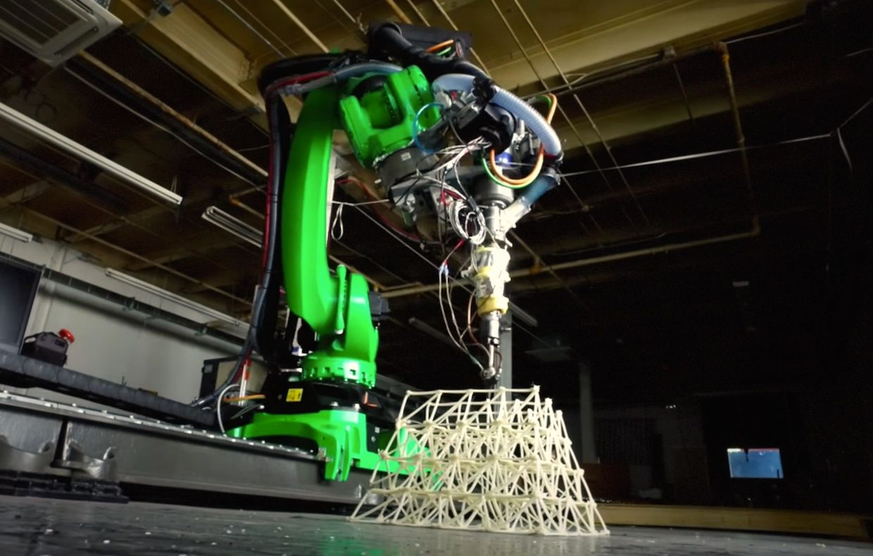Buildings printed by robots