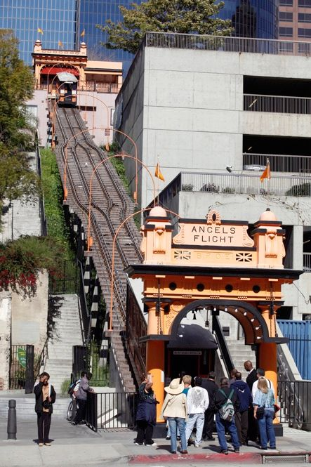 Rail service shuttling people up and down the nearly vertical slope of Bunker Hill in Los Angeles resumed on 15 March. The two-station train line, which closed nine years ago after a deadly accident, now features a computerized braking system and other safety features.