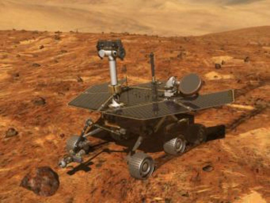 Artist illustration of a NASA Mars rover