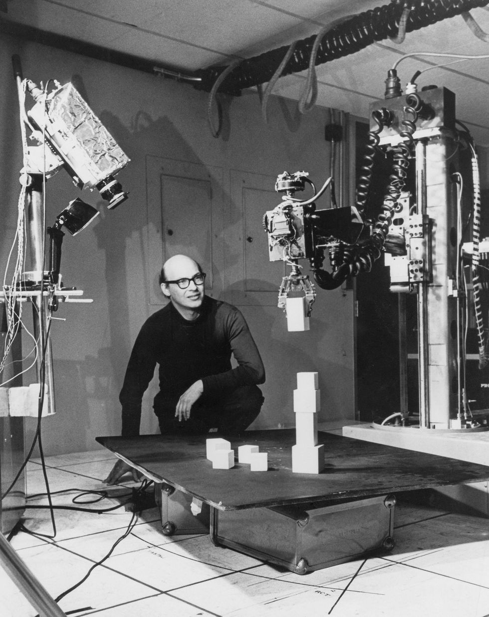 Image of MIT professor, Marvin Minsky.