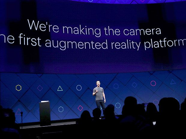 Facebook's Mark Zuckerberg focuses on augmented reality and camera apps at Facebook's F8 conference