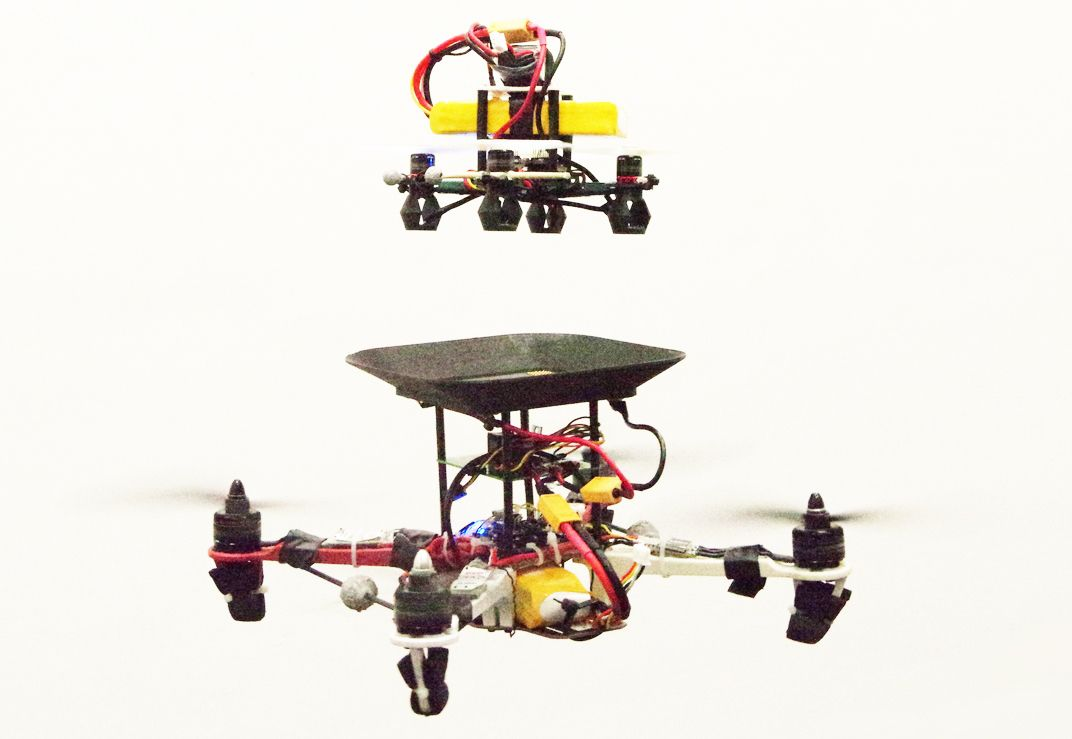 Flying battery for drones