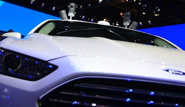 Ford autonomous car with Velodyne lidar sensors