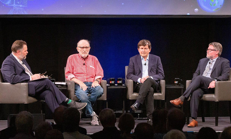 From left: David C. Brock, Dan Lickly, Charles Simonyi, Matthew Shindell