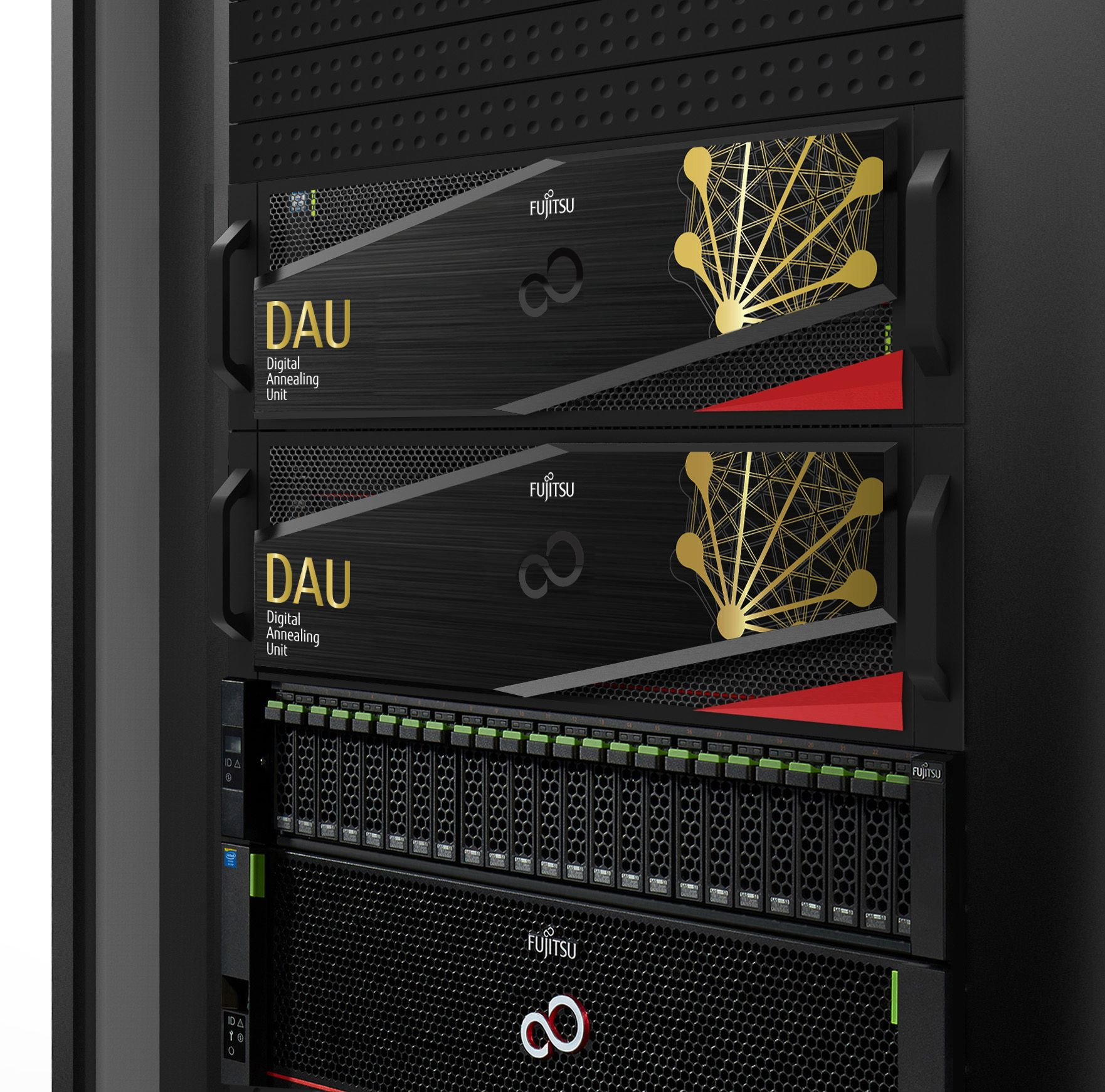 Fujitsu's CMOS Digital Annealer in server racks.