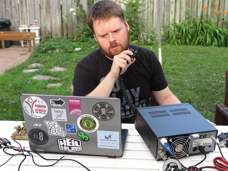 Ham radio operator Sterling Mann (N0SSC)