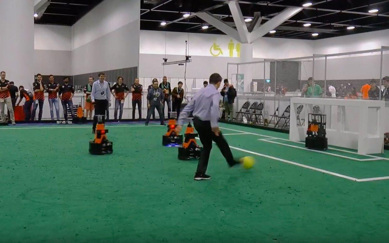 Humans vs robots at RoboCup