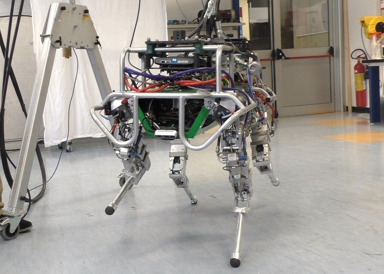 HyQ robot balancing on two legs