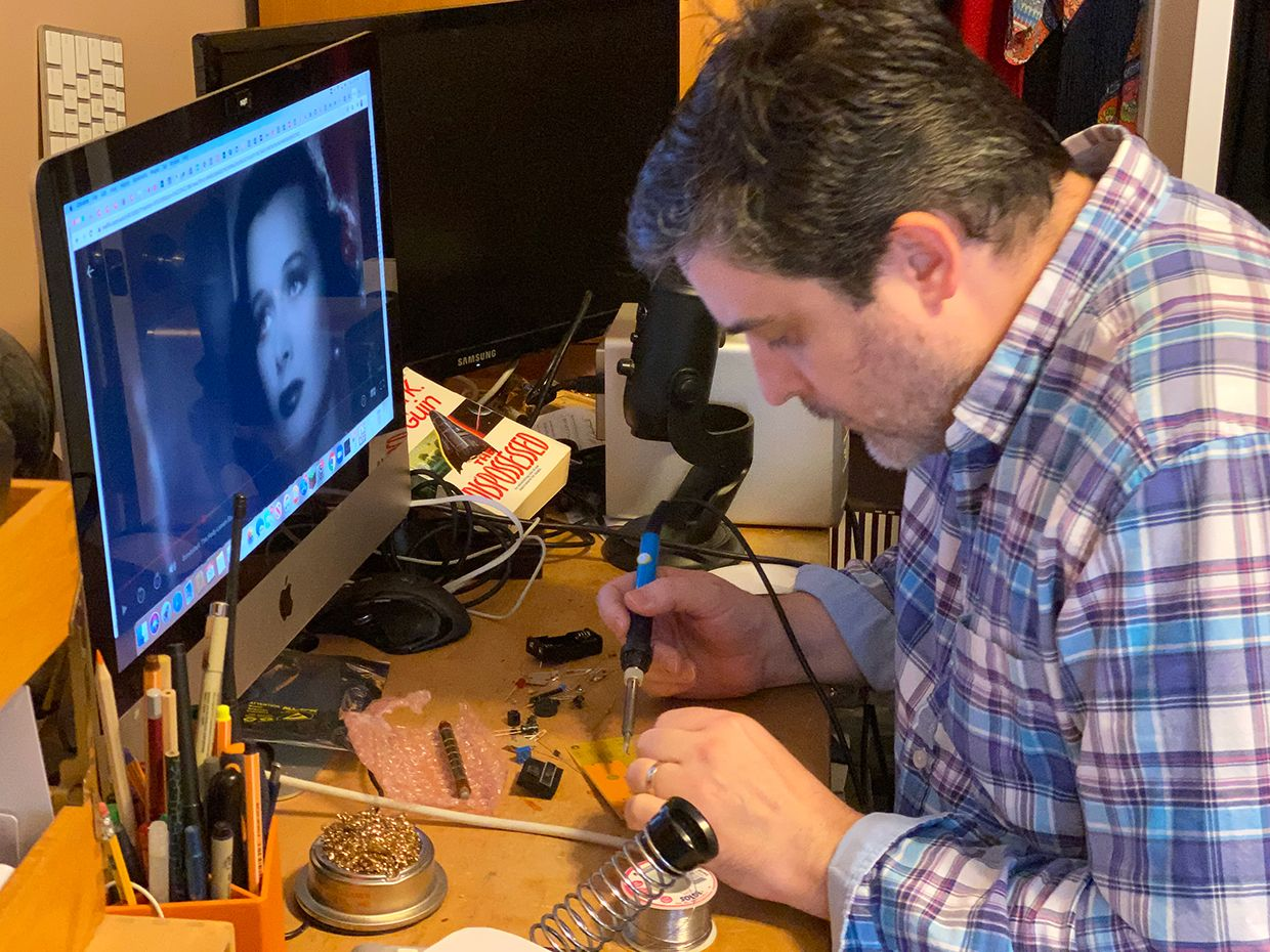 IEEE Spectrum senior editor Stephen Cass at work on a home project.