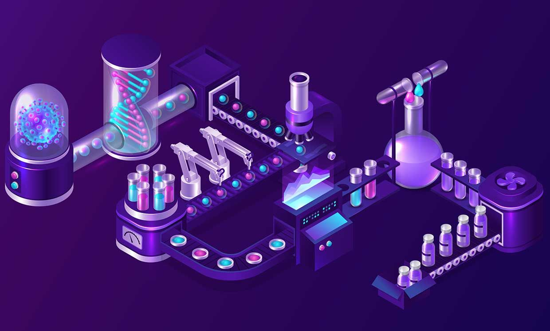 Illustration of AI medicine
