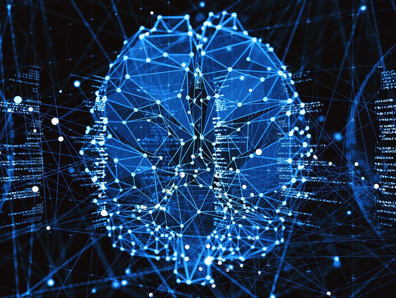 Illustration of an AI neural net