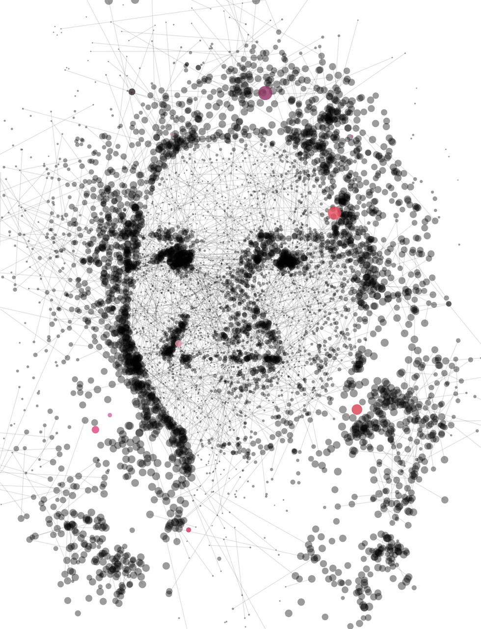 Illustration of Daniela Rus made of dots and lines.