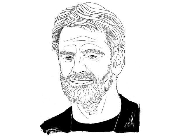 Illustration of Kári Stefánsson.