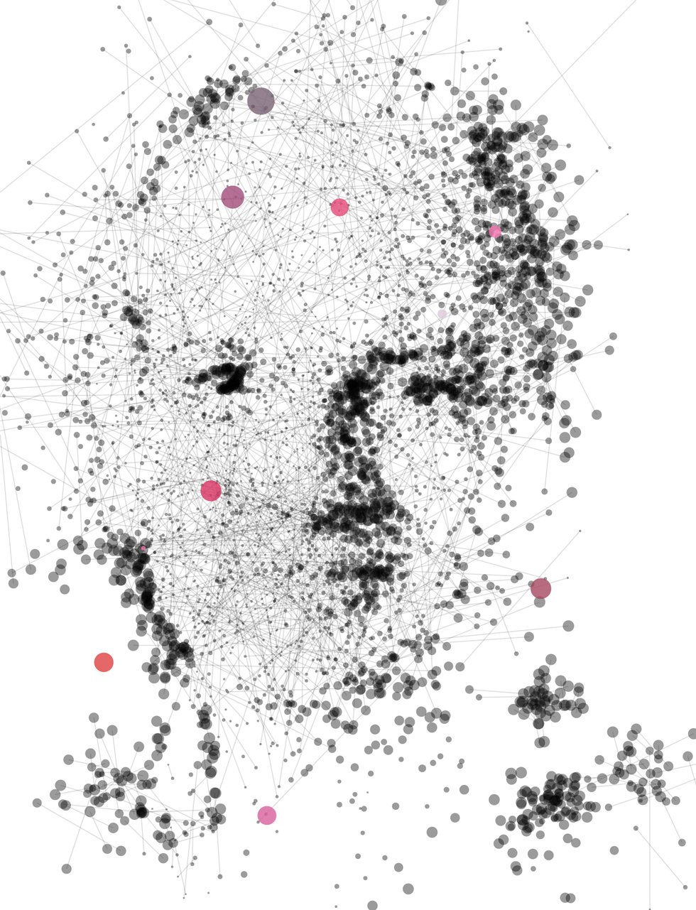 Illustration of Stuart Russell made of dots and lines.