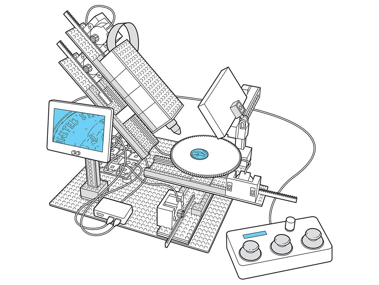 Illustration of the Lego microscope.