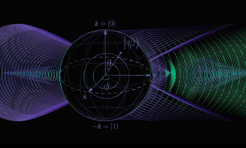 Illustration representing quantum computational phase space