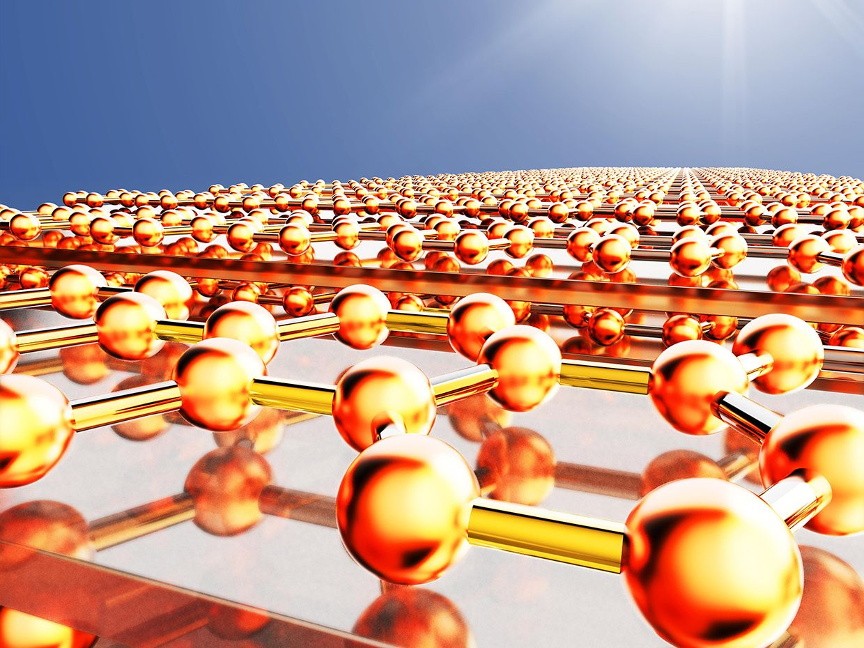 Illustration showing the metamaterials in the sun.