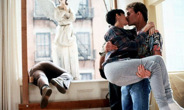 Image of Patrick Swayze and Demi Moore kissing in the 1990 movie 'Ghost.'