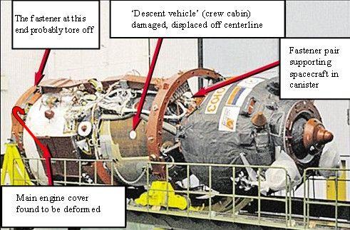 Soyuz damaged during delivery