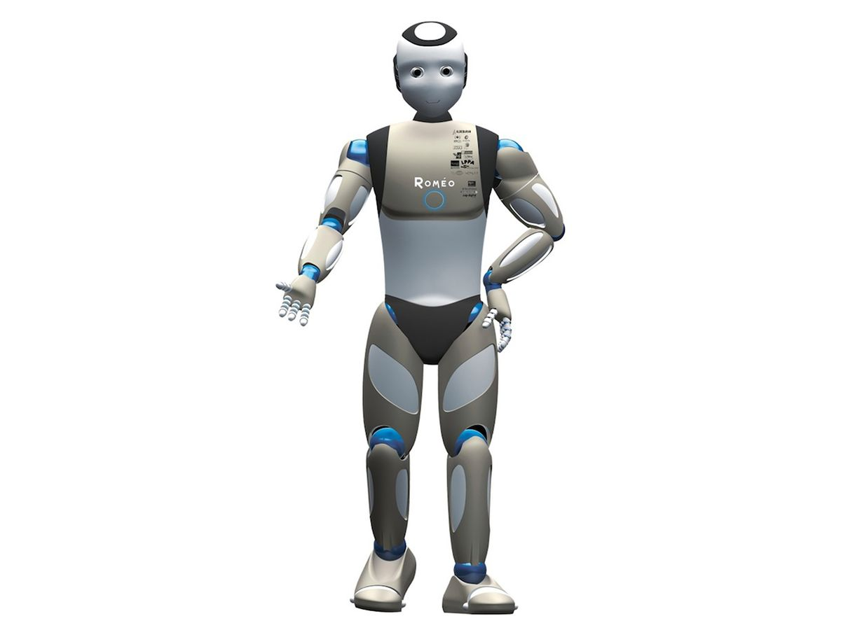 Romeo, shown here in a computer-generated rendering, is a French humanoid robot designed to assist elderly and disabled people.