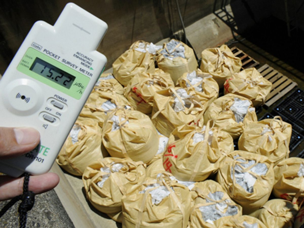 Radioactive Sludge Collects in Japan's Sewage Treatment Plants