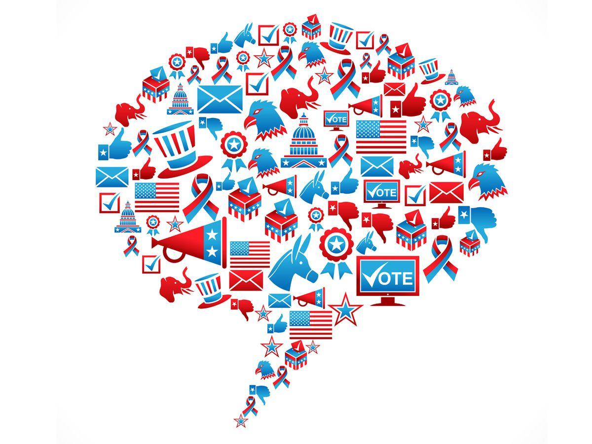 patriotic blurb graphic illustration