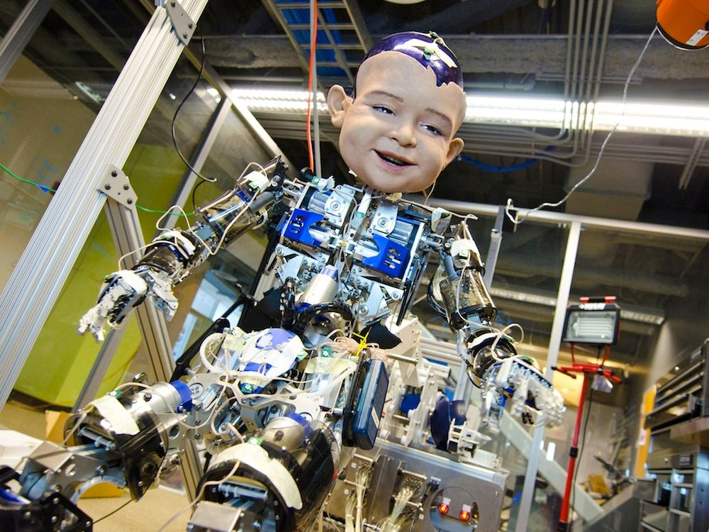 Robot Baby Diego-San Shows Its Expressive Face on Video