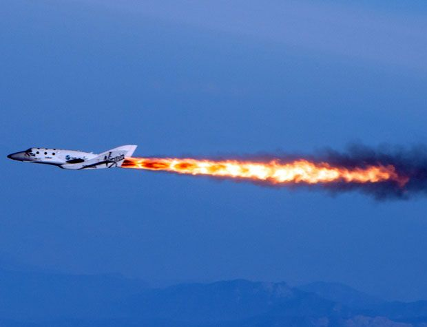 Virgin Galactic's Spacecraft Goes Supersonic in First Rocket Test