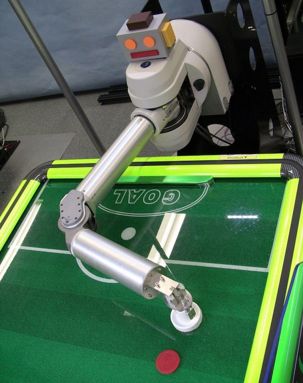 This Robot Wants to Beat You at Air Hockey