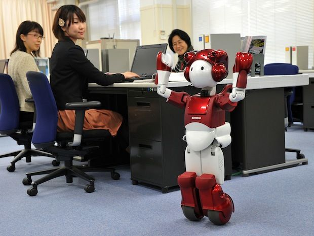 Hitachi's EMIEW Robot Learns to Navigate Around the Office