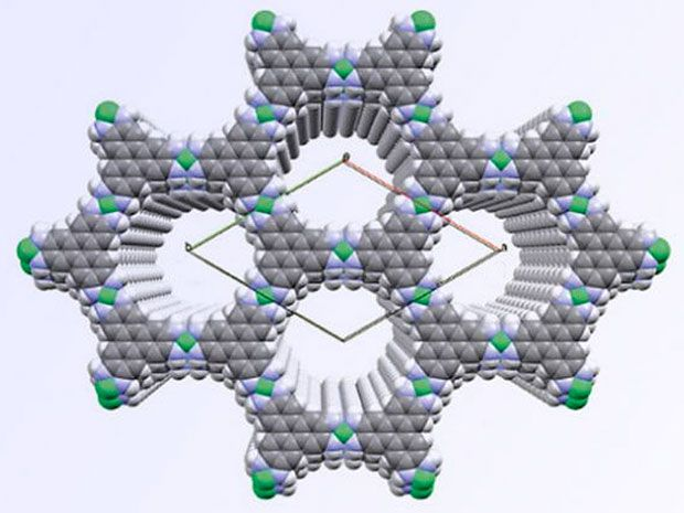 Novel 2-D Material Offers a Band Gap and Self Assembly