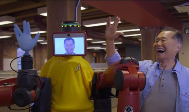 Video Friday: George Takei Meets Baxter, Jibo Origins, and Underwater Cake