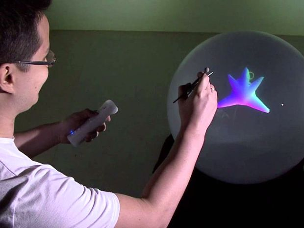 Spherical Display Lets You See 3-D Animations from Any Angle