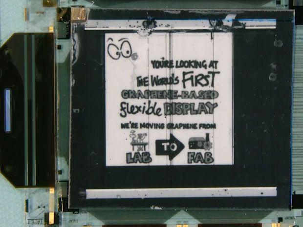 First Graphene-enabled Flexible Display Demonstrated