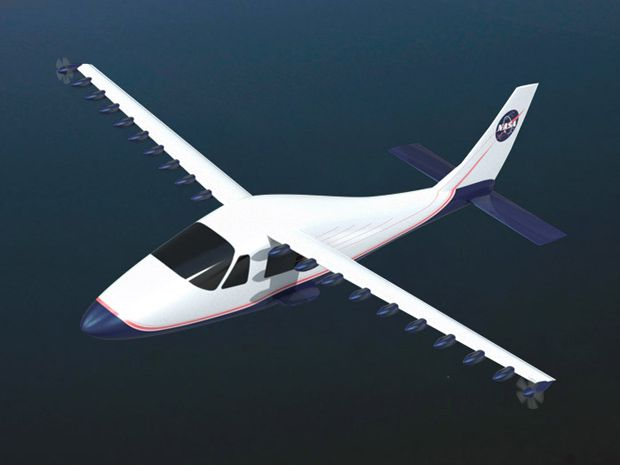 NASA's LEAPTech X-plane Will Fly with 18 Electric Motors and Tiny Wings