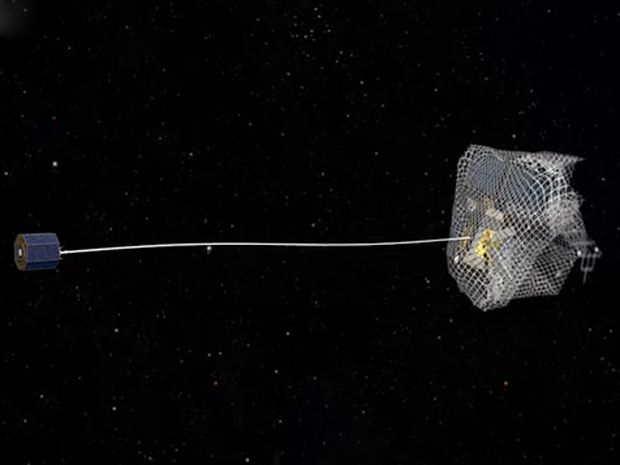 ESA Tests Satellite-Snagging Nets for Orbital Trash Removal