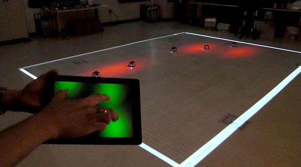 Your Finger on a Tablet Can Control Entire Swarms of Robots
