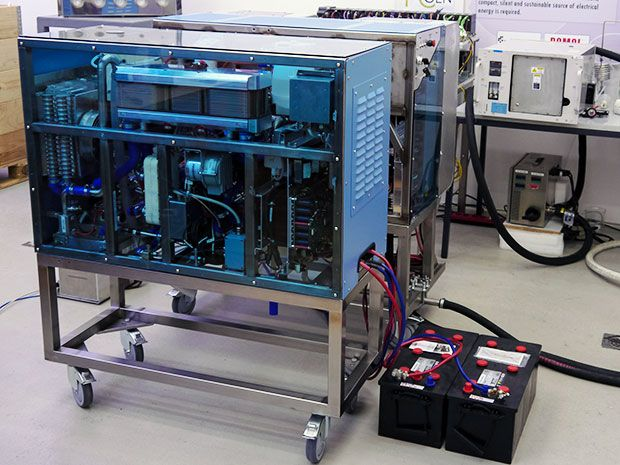 Diesel-Powered Fuel Cell Produces Clean Electricity