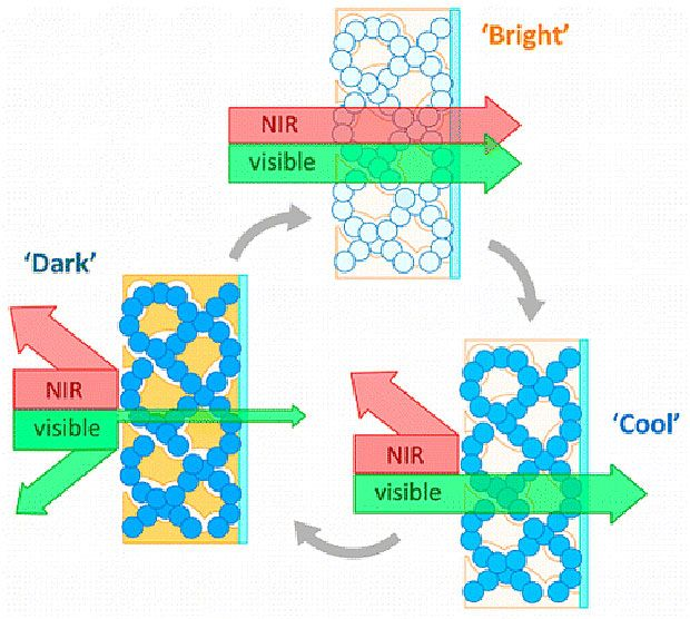 Nanostructured Glass Can Switch Between Blocking Heat and Blocking Light