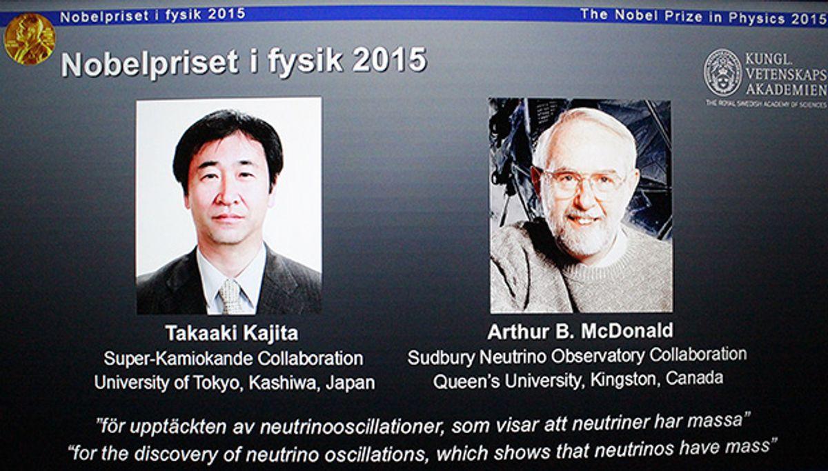 Nobel Awarded for Discovery of Neutrino Mass