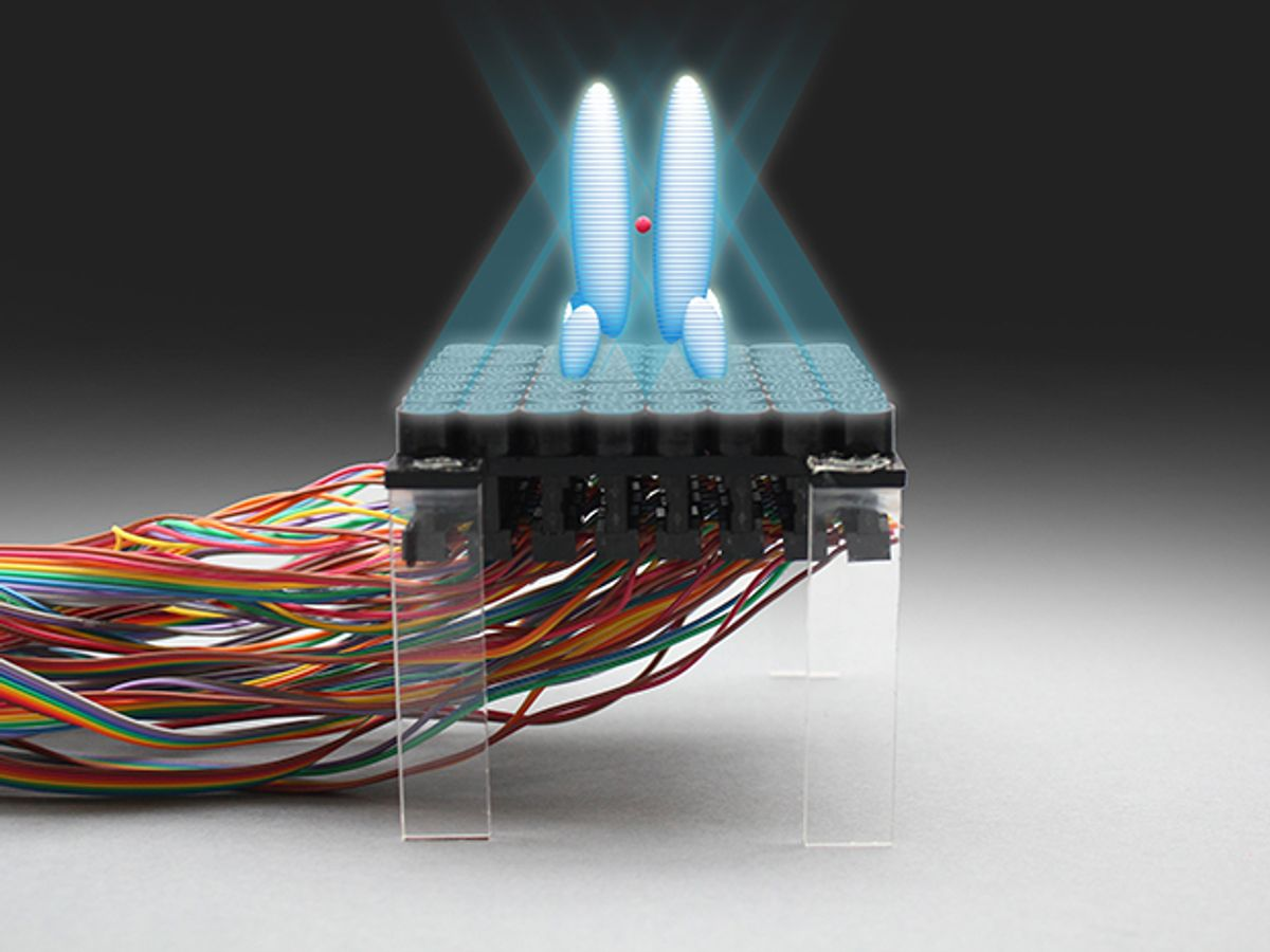 Acoustic Holograms Form Ultrasonic Tractor Beams for Tiny Objects