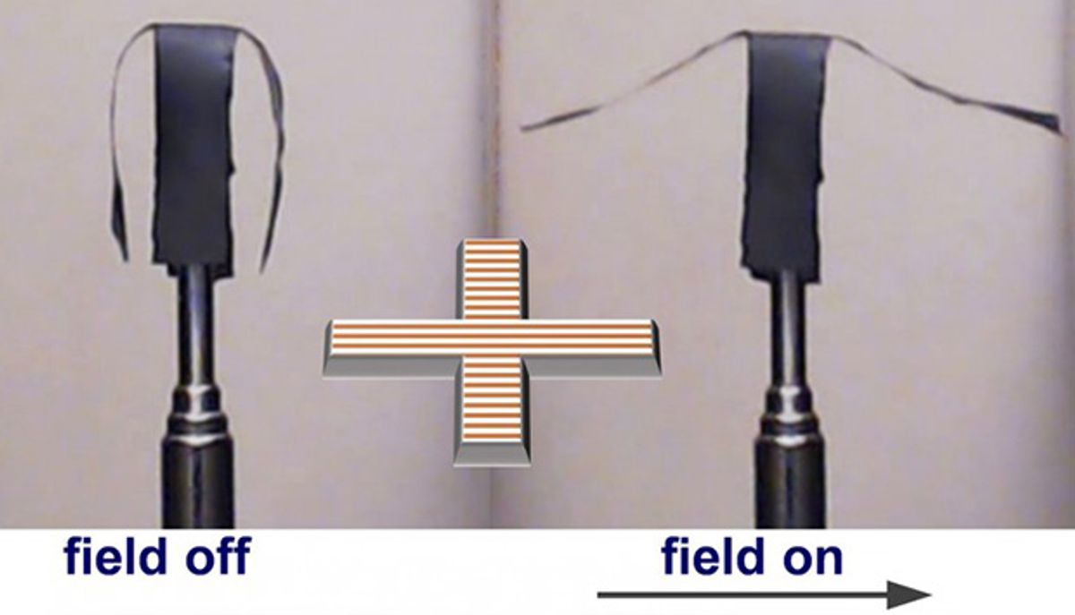 Polymer Embedded With Metallic Nanoparticles Enables Soft Robotics