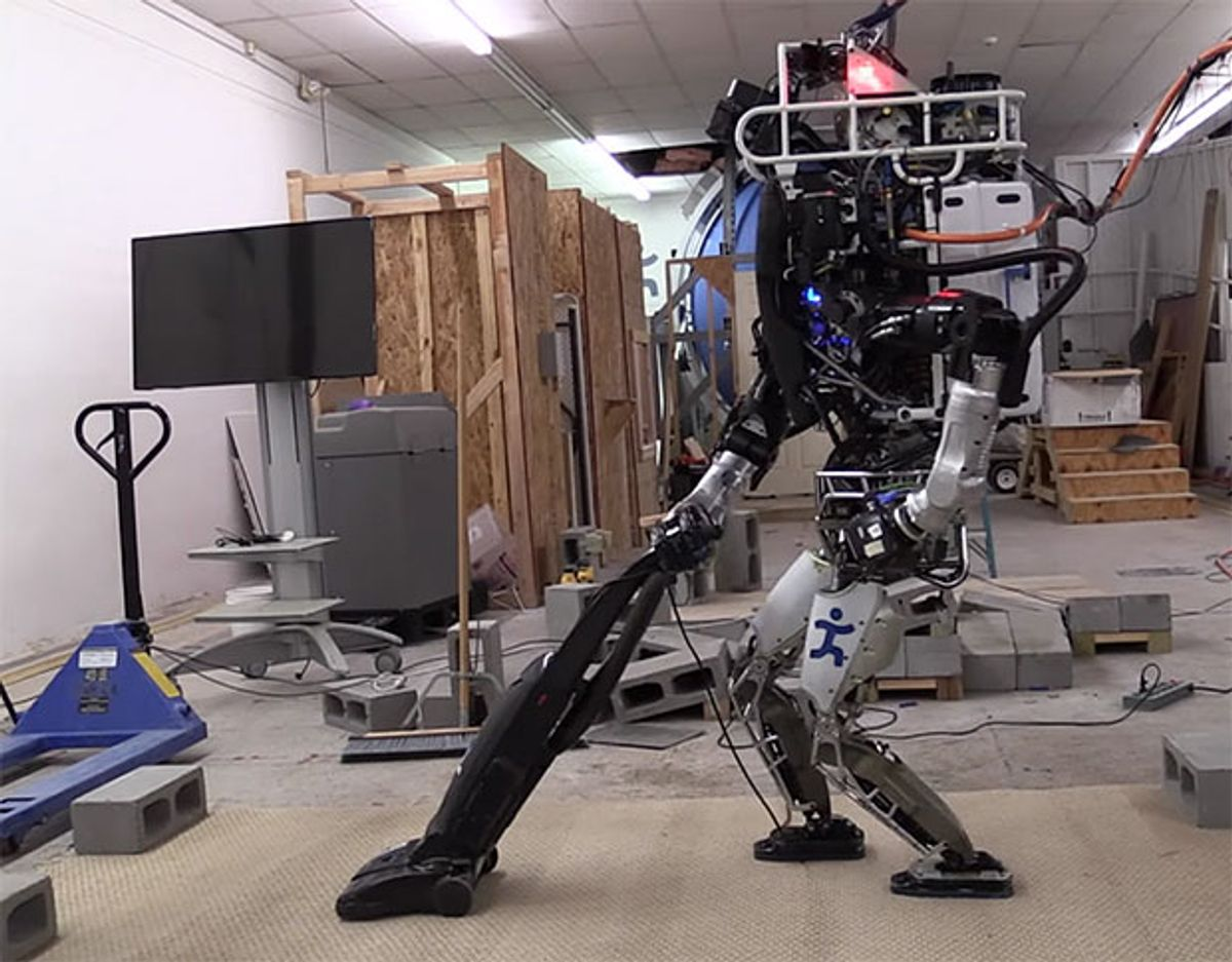 IHMC's ATLAS Robot Learning to Do Some Chores