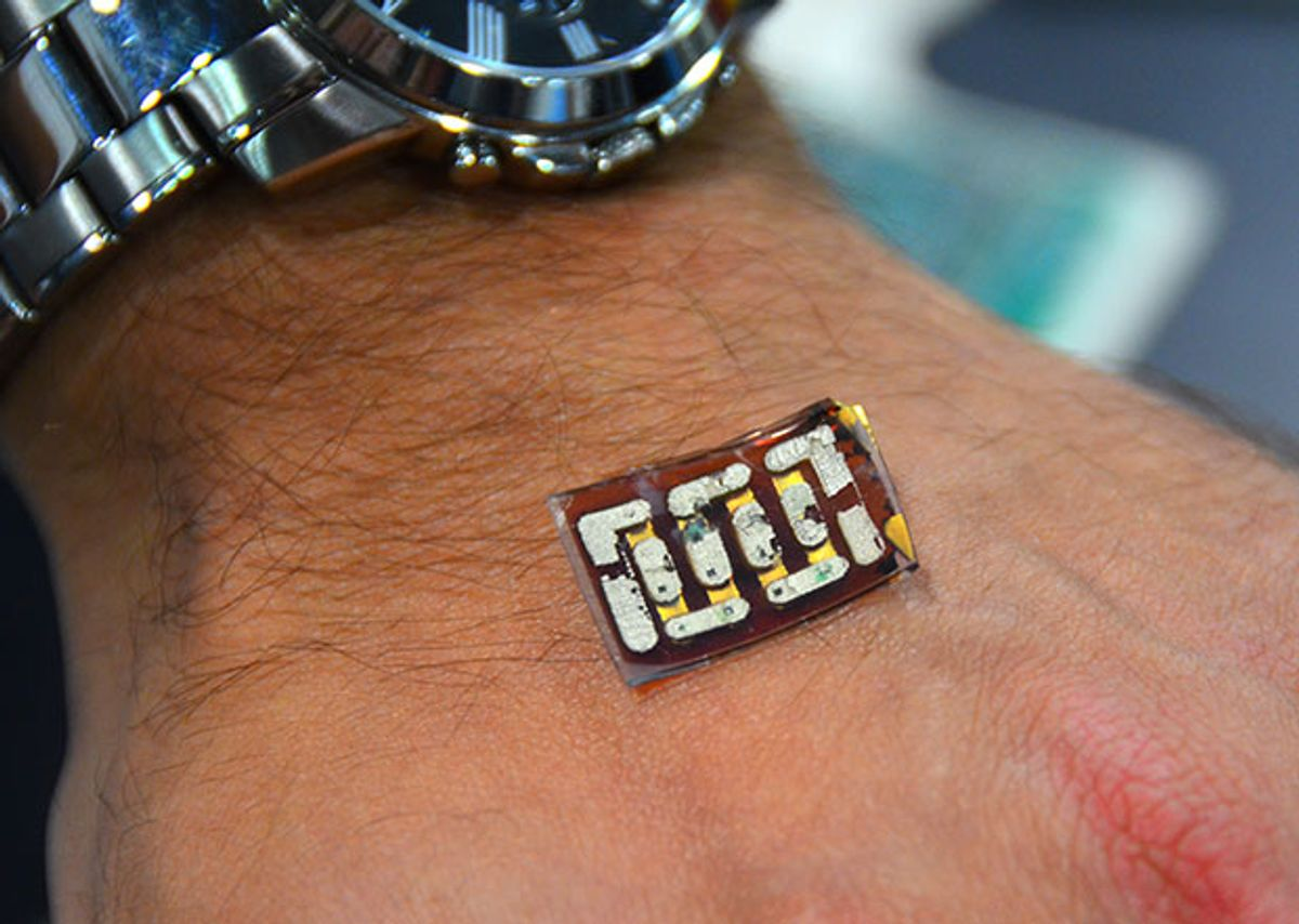 Power Harvesting Sensor Patch Uses Your Body As a Battery