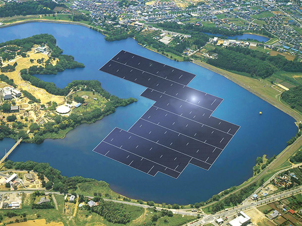 Japan Building World's Largest Floating Solar Power Plant