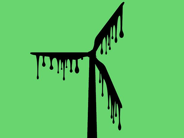 To Get Wind Power You Need Oil