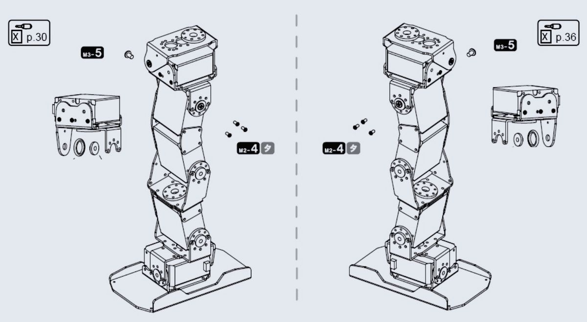 Humanoid robot assembly instructions