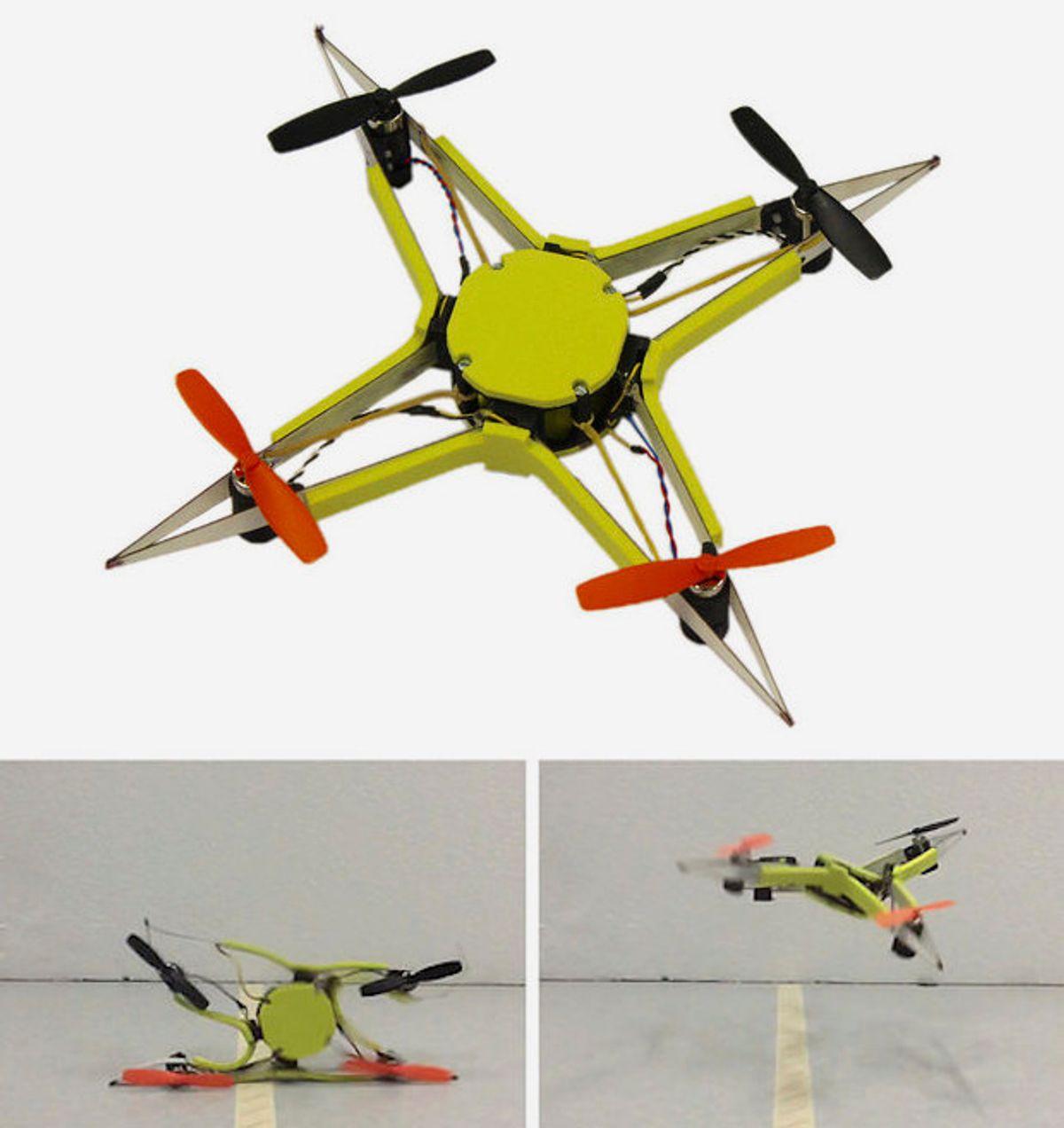 EPFL bio-inspired crashproof drone